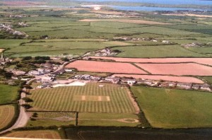 St Minver Cricket Club aerial view